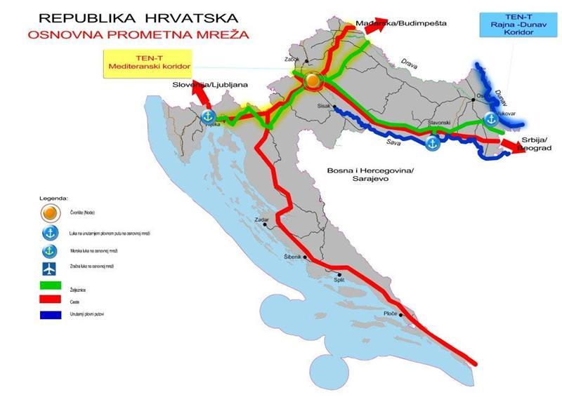 Položaj luke Rijeka